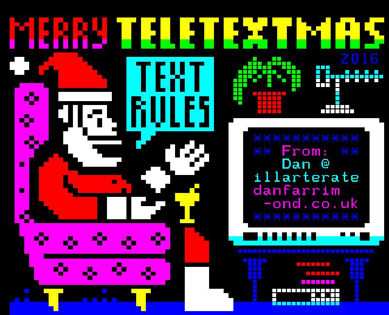 Illarterate Teletextmas 2016